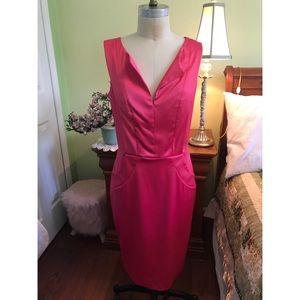 Ellen Tracy | Hot Pink Dress